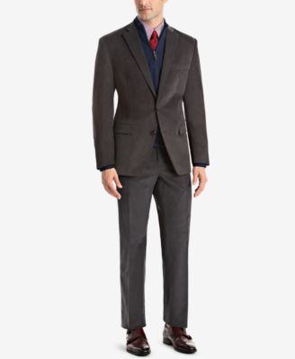 Men's Classic/Regular Fit Corduroy Double Reverse Pleated Dress Pants