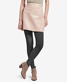 HUE® Control-Top Micro Cable-Knit Tights