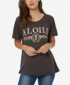 O'Neill Juniors' Cotton Aloha Graphic-Print T-Shirt