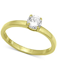 Giani Bernini Cubic Zirconia Stone Ring in 18k Gold-Plated Sterling Silver, Created for Macy's