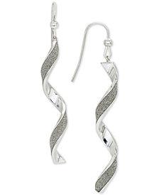 Giani Bernini Glitter Twist Drop Earrings, Created for Macy's