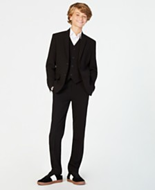 Calvin Klein Big Boys Slim Fit Stretch Suit Separates