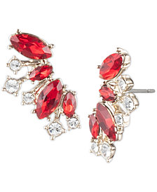 Givenchy Crystal Climber Earrings
