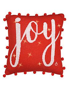 Lite Me Up Joy LED 16x16 Decorative Pillow