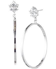Givenchy Crystal Cluster Drop Hoop Earrings