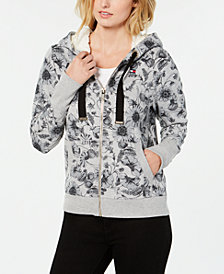 Tommy Hilfiger Sherpa-Hood Printed Sweatshirt, Created for Macy's
