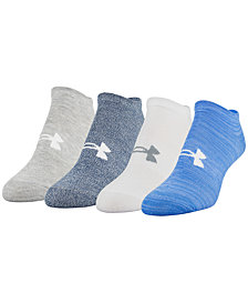 Under Armour 4-Pk. No-Show Socks