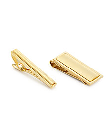 the GIFT Men's Tie Bar  & Money Clip Set
