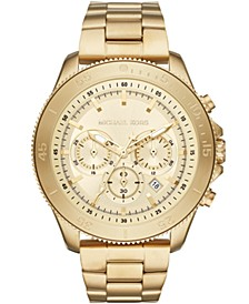 Men's Chronograph Cortlandt Gold-Tone Stainless Steel Bracelet Watch 44.5mm