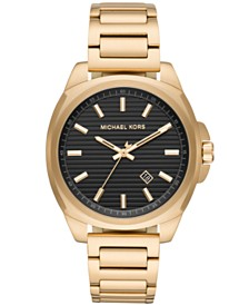 Michael Kors Men's Bryson Gold-Tone Stainless Steel Bracelet Watch 42mm