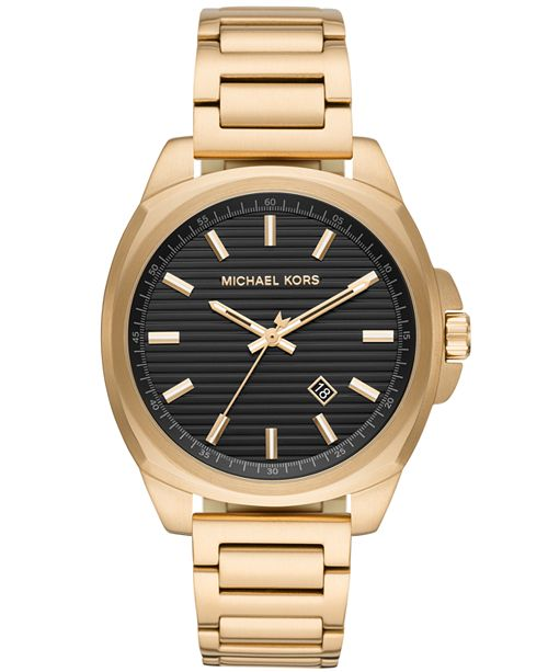 Michael Kors Men's Bryson Gold-Tone Stainless Steel Bracelet Watch 42mm