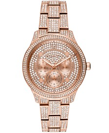Michael Kors Women's Runway Rose Gold-Tone Stainless Steel Bracelet Watch 38mm
