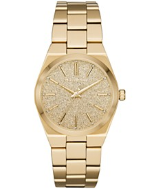 Michael Kors Women's Channing Gold-Tone Stainless Steel Bracelet Watch 36mm