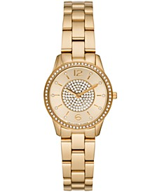 Women's Runway Gold-Tone Stainless Steel Bracelet Watch 28mm