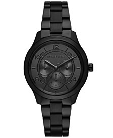 Michael Kors Women's Runway Black Stainless Steel Bracelet Watch 38mm
