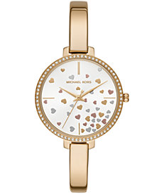 Michael Kors Women's Jaryn Gold-Tone Stainless Steel Bangle Bracelet Watch 36mm