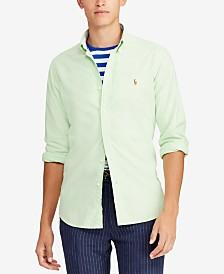 ee2bdac3d Polo Ralph Lauren Men's Classic Fit Long Sleeve Solid Oxford Shirt ...