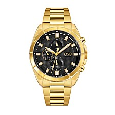 Men's Gold-Tone IP Stainless Steel Chronograph Bracelet Watch