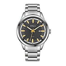 Men's ESQ0171 Stainless Steel Bracelet Watch, Date Window and Grey Dial