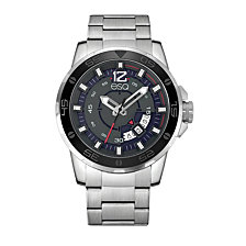 Men's ESQ0050 Stainless Steel Silver-Tone Bracelet Watch with Date Window