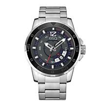 Men's ESQ0050 Stainless Steel Silver-Tone Bracelet Watch with Date Window