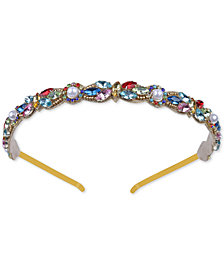 Deepa Gold-Tone Multicolored Cluster Headband