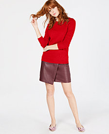 Charter Club Petite Pure Cashmere Crew-Neck Sweater, Created for Macy's