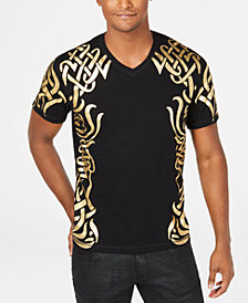 I.N.C. Men's Gold Foil T-Shirt, Created by Macy's