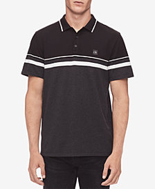 Calvin Klein Men's Chest Striped Polo