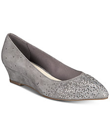 Anne Klein Ellery iFlex Embellished Wedge Pumps