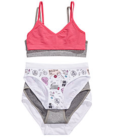 Maidenform Little & Big Girls 5-Pc. Bras & Panties Set
