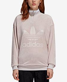 adidas Originals Velvet Half-Zip Sweatshirt