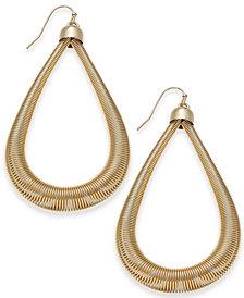"Thalia Sodi Extra Large Gold-Tone Teardrop Hoop Earrings, 2.5"", Created for Macy's"