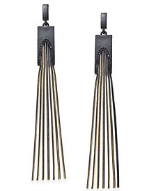 "Thalia Sodi Extra Large Two-Tone Chain Linear Earrings, 3.5"", Created for Macy's"