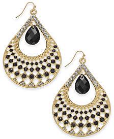 "Thalia Sodi Large Gold-Tone Pavé & Stone Drop Earrings, 2.75"", Created for Macy's"