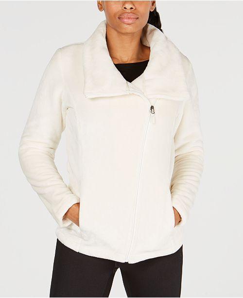 Asymmetrical-Zip Fleece Jacket, Created for Macy's