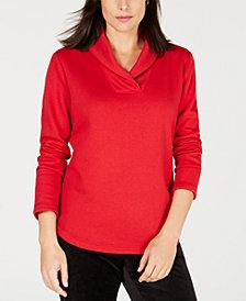 Karen Scott Shawl-Collar Sweatshirt, Created for Macy's
