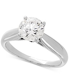Lab Grown Diamond Solitaire Engagement Ring (1-1/2 ct. t.w.) in 14k White Gold