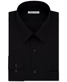 Van Heusen Men's Tall Classic/Regular Fit Wrinkle Free Poplin Solid Dress Shirt