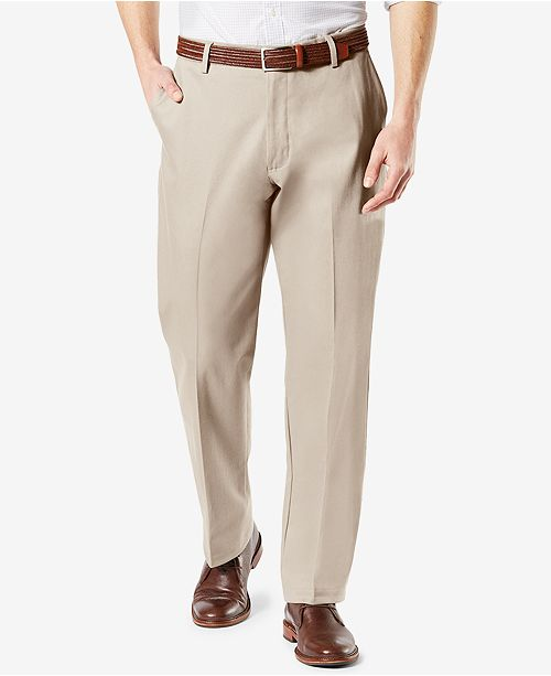 9d47117e0ecbe7 ... Dockers Men s Signature Lux Cotton Classic Fit Stretch Khaki Pants ...