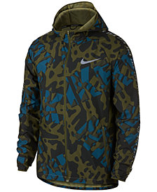Nike Men's Essentials Printed Water-Repellent Zip Hoodie