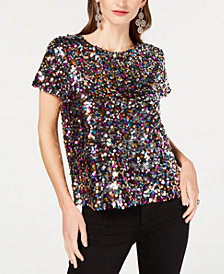 I.N.C. Sequined T-Shirt, Created for Macy's