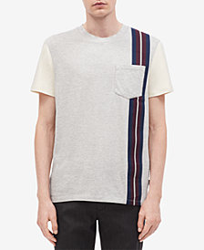 Calvin Klein Men's Contrast Sleeve-Tape T-Shirt