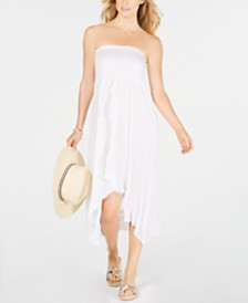 Raviya Strapless High-Low Dress Cover-Up
