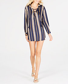 Roxy Printed Lace-Up Cover-Up