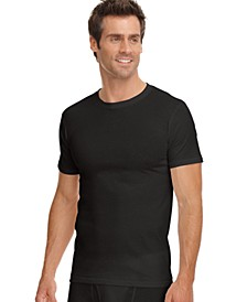 men's classic collection crew-neck tagless Undershirt 3-pack with staynew technology