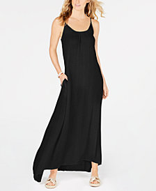 Raviya Crepe Sleeveless Maxi-Dress Cover-Up