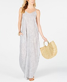 Cotton Striped Maxi Dress Cover-Up