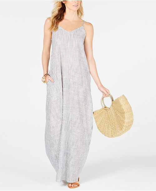 85bf441f58 Raviya Cotton Striped Maxi Dress Cover-Up & Reviews - Swimwear ...