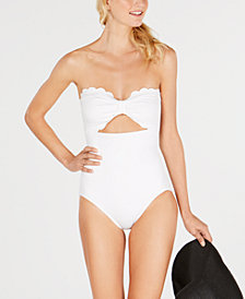 kate spade new york Scalloped-Bandeau One-Piece Swimsuit